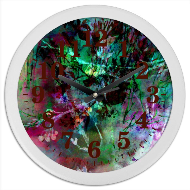 Часы круглые из пластика Printio Путаница. абстракция зайцев а мириады светлячков роман