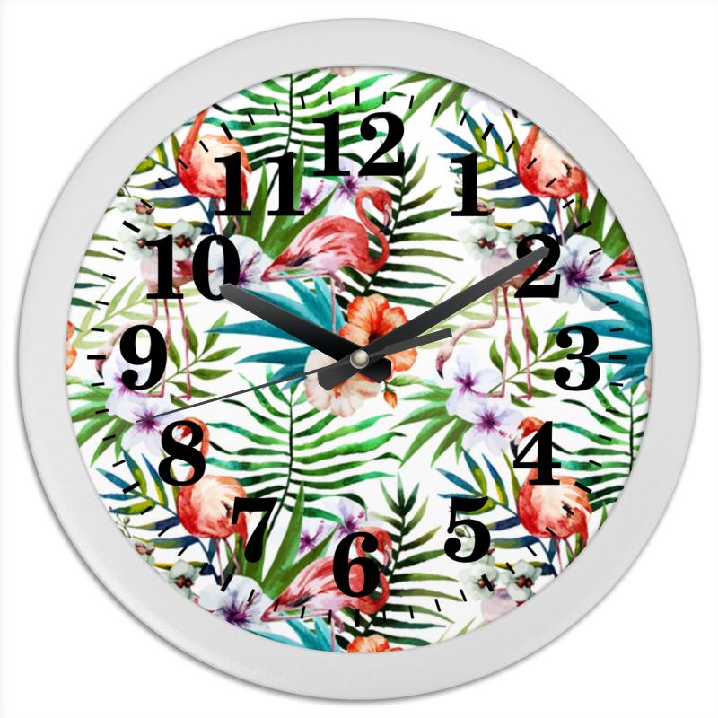 Часы круглые из пластика Printio Фламинго часы круглые из пластика printio сма́йлик