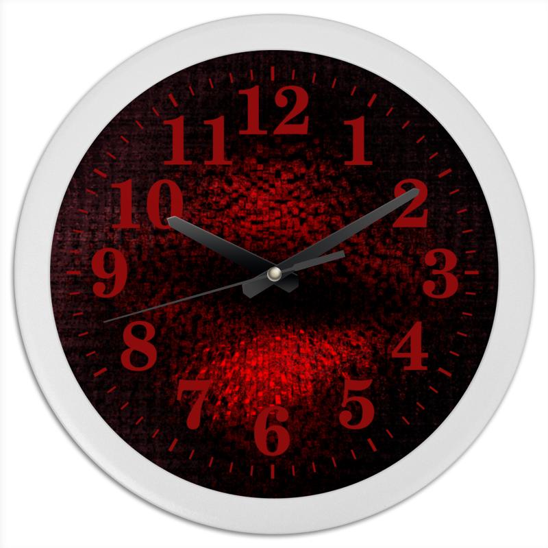 Часы круглые из пластика Printio Фраза. абстракция часы круглые из пластика printio путаница абстракция
