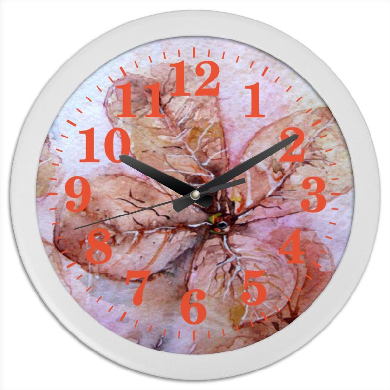 Часы круглые из пластика Printio Прозрачный осенний цветок конфеты круглые с ромом купить в иркутске