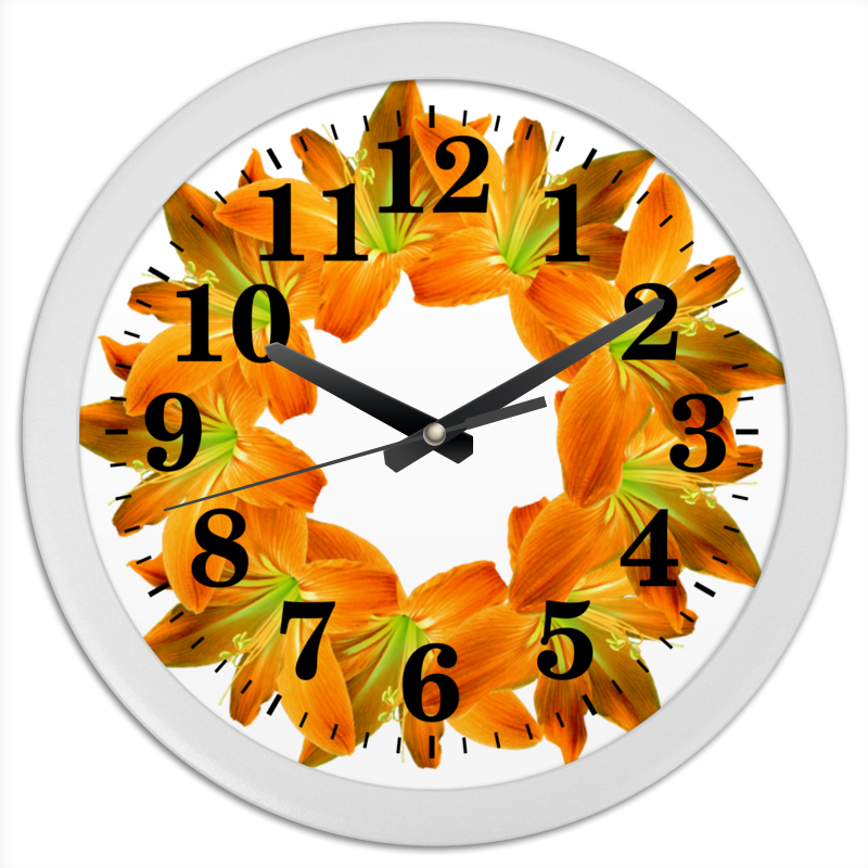 Часы круглые из пластика Printio Заряд энергии