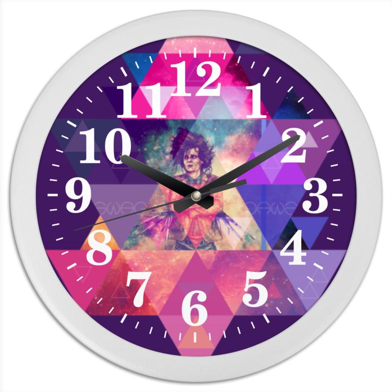 Часы круглые из пластика Printio hipsta swag collection: edward scissorhands