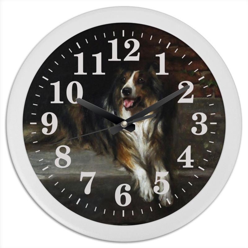 Часы круглые из пластика Printio Колли (картина артура вардля) шоколадка 35х35 printio колли картина артура вардля