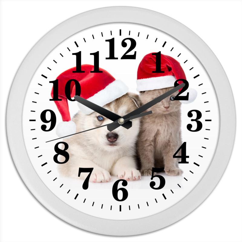 Часы круглые из пластика Printio Год собаки часы круглые из дерева printio забавные собаки