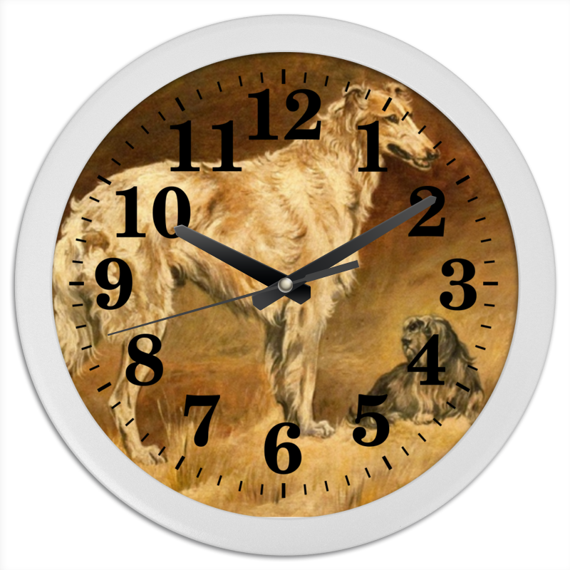 Часы круглые из пластика Printio 2018 год желтой собаки