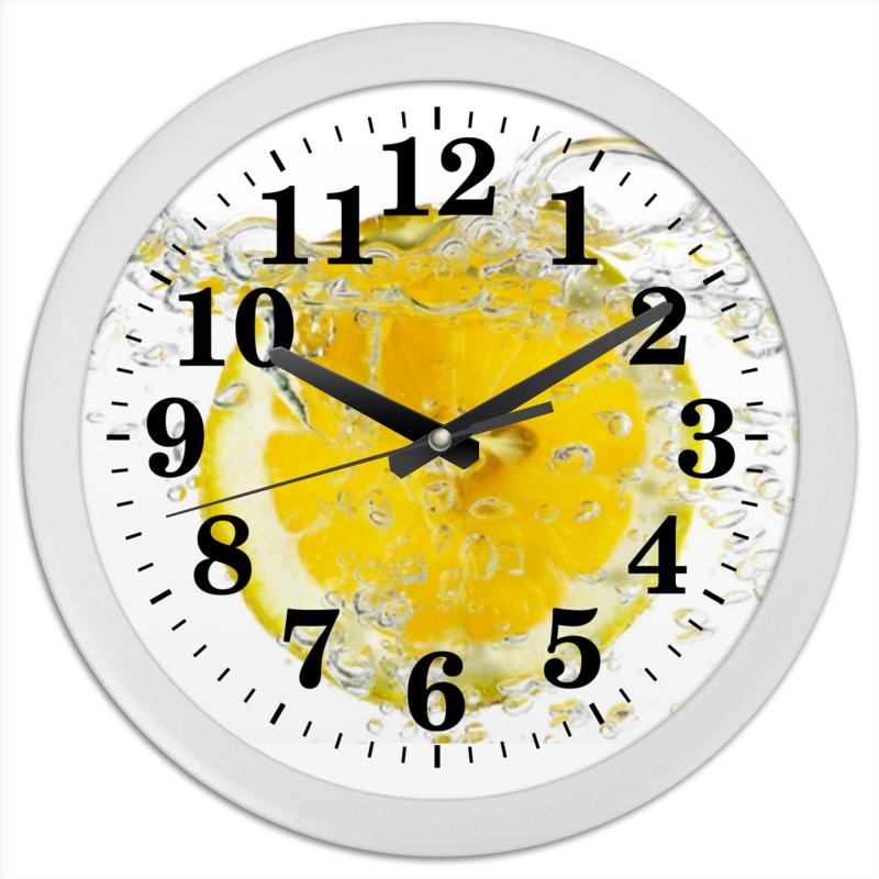 Часы круглые из пластика Printio Лимоны лукашинские лимоны с имбирем 450 г