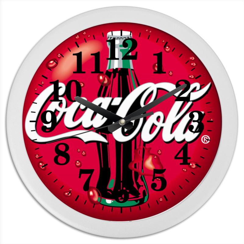 Часы круглые из пластика Printio Кока кола