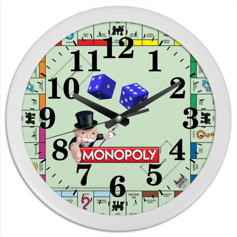 Часы круглые из пластика Printio Monopoly часы круглые из пластика printio fish bus рытобус рыба автобус
