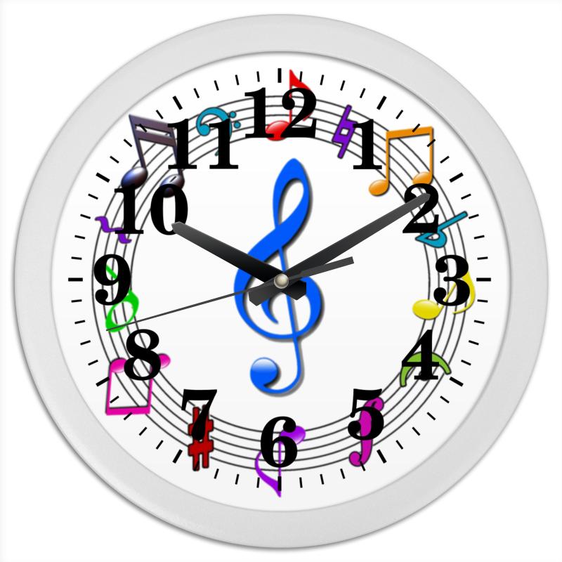 Часы круглые из пластика Printio Музыкальные часы часы davena 30219