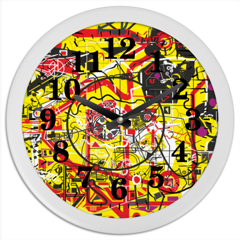 Часы круглые из пластика Printio Паутинка часы круглые из пластика printio музыка