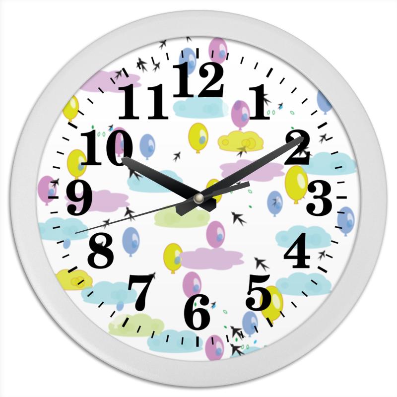 Часы круглые из пластика Printio Облачный город белый город сливки стерилизованные 10% 0 2 л