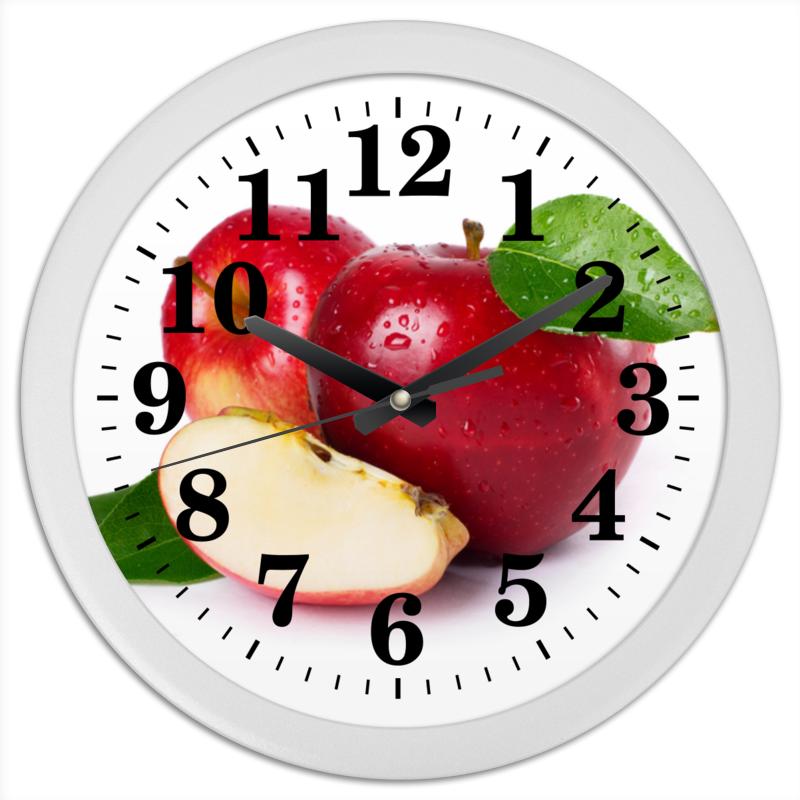 Часы круглые из пластика Printio Яблоки пюре фрутоняня яблоко и черника с 5 мес 100 г