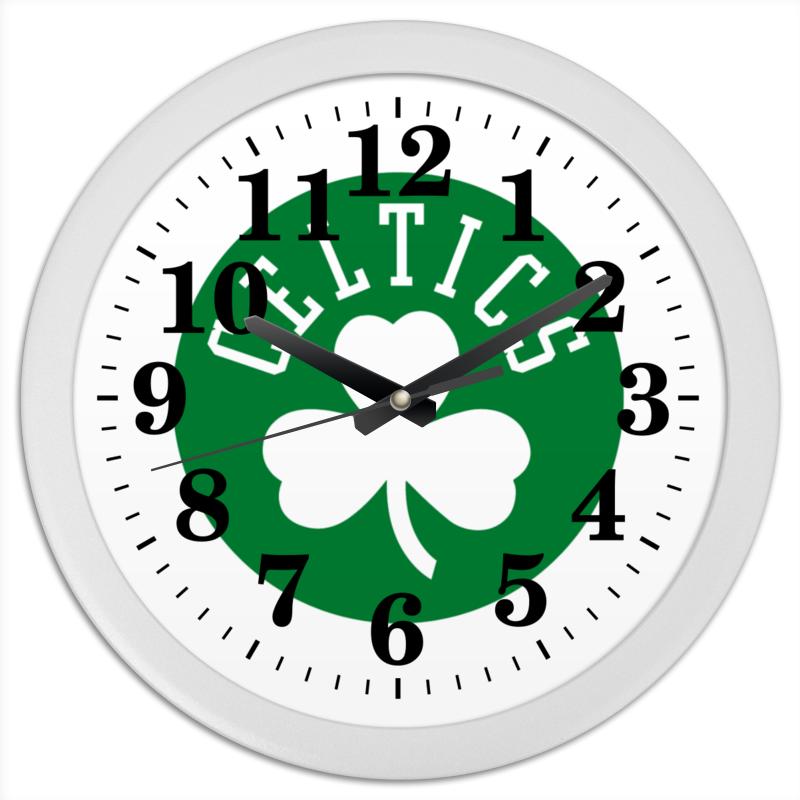 Часы круглые из пластика Printio Селтикс green