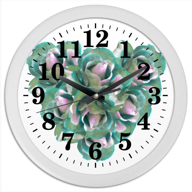 Часы круглые из пластика Printio Прекрасное сердце
