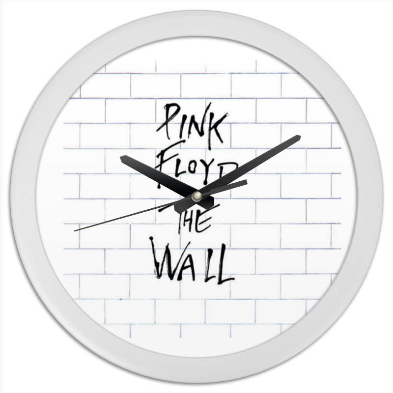 Часы круглые из пластика Printio Pink floyd
