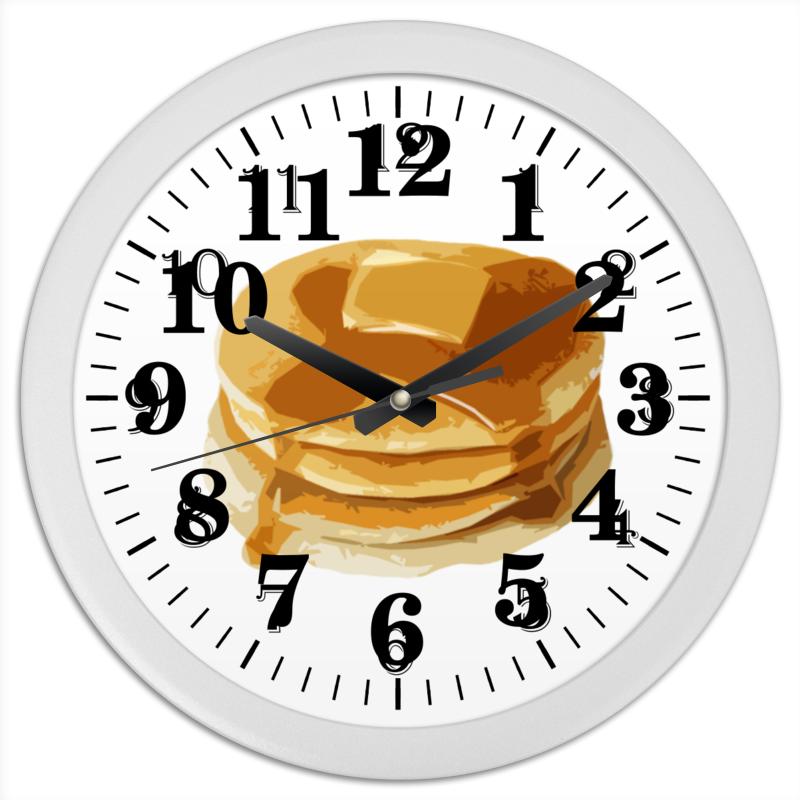 Часы круглые из пластика Printio Блины с маслом блины и блинчики
