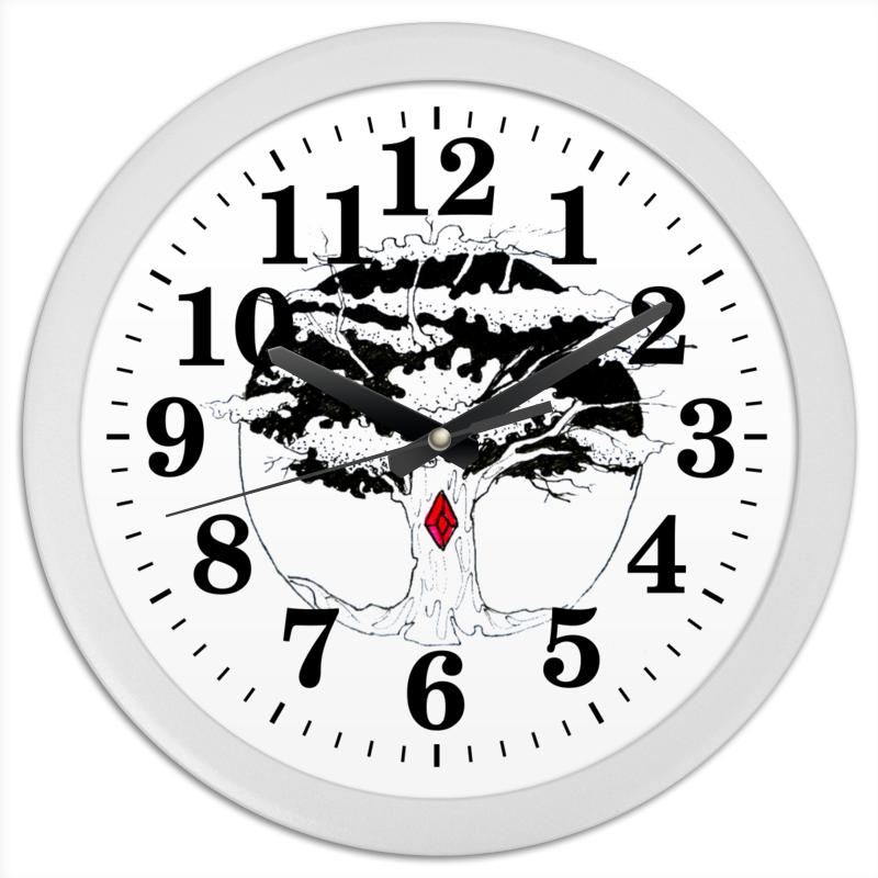 Часы круглые из пластика Printio Дерево сибирские отруби хрустящие сила ягод 100 г