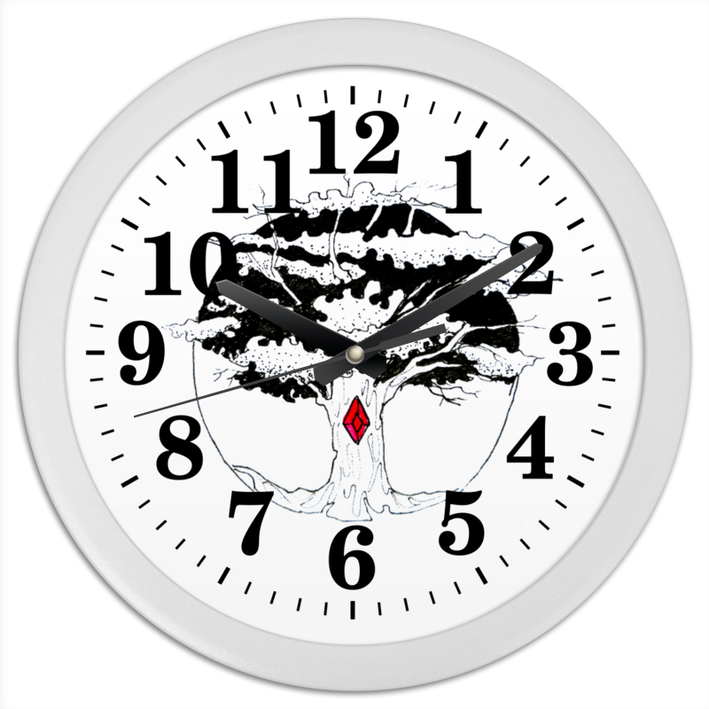 Часы круглые из пластика Printio Дерево