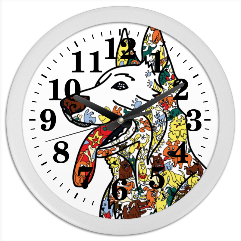 Часы круглые из пластика Printio Забавные собаки часы круглые из дерева printio забавные собаки
