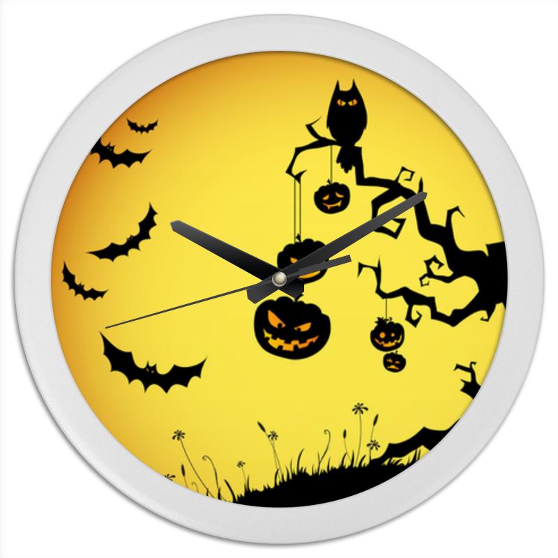 Часы круглые из пластика Printio Halloween