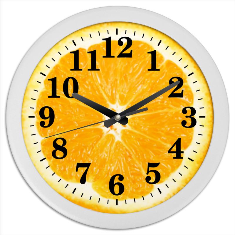 Часы круглые из пластика Printio Апельсин часы круглые из пластика printio котенок в кружке