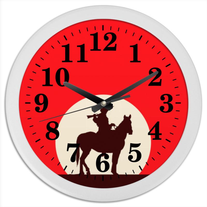 Часы круглые из пластика Printio Ковбой конфеты круглые с ромом купить в иркутске