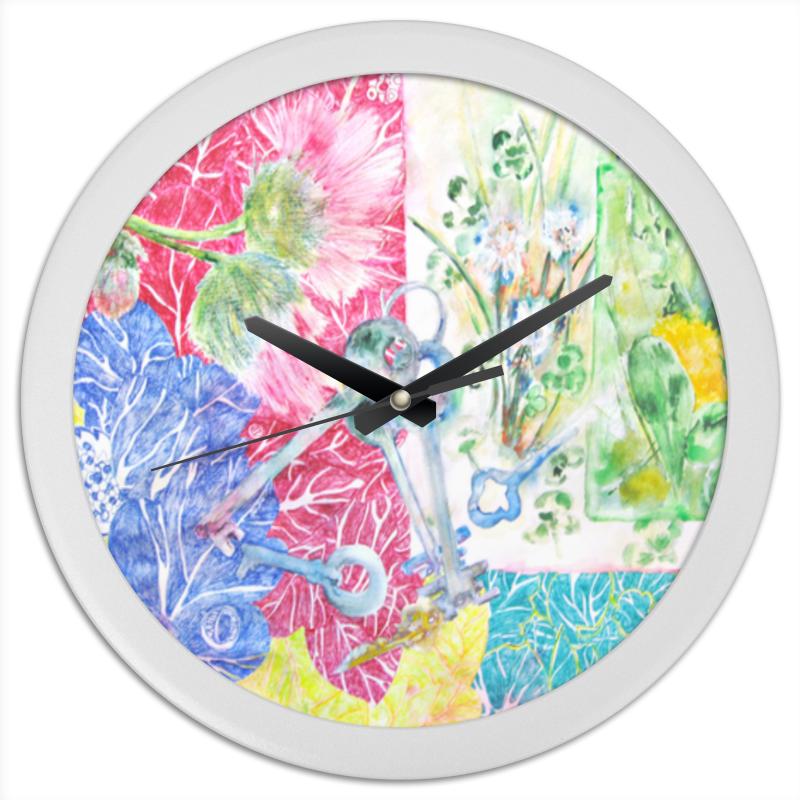 Часы круглые из пластика Printio Ключи. лето-осень
