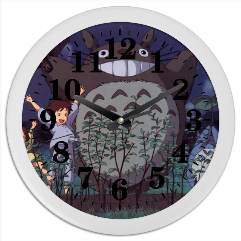 Printio Тоторо часы круглые из пластика printio treugoi