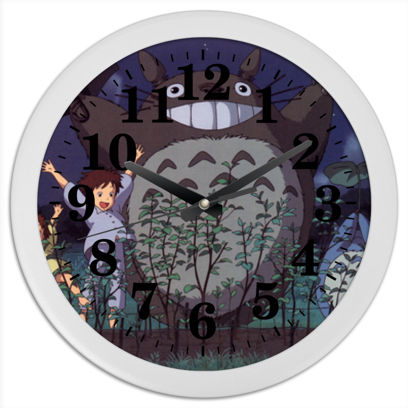 Printio Тоторо часы круглые из пластика printio returnal