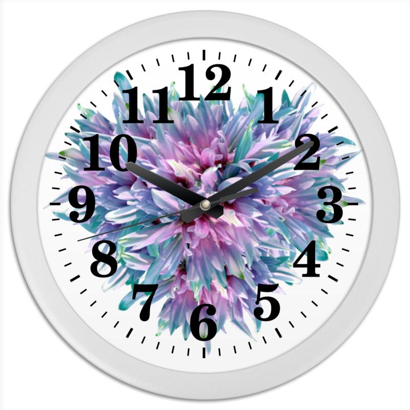 Часы круглые из пластика Printio Акварельное буйство