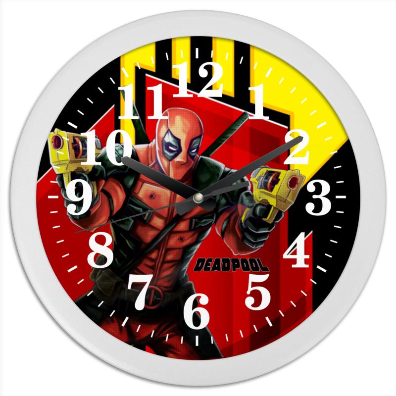 Часы круглые из пластика Printio Deadpool