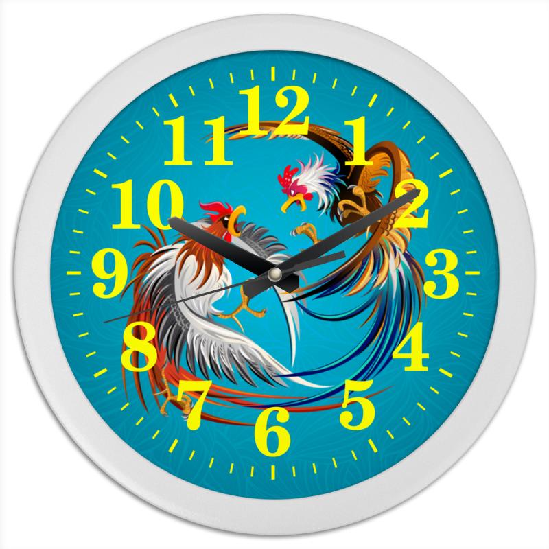 Часы круглые из пластика Printio Новый год 2017 часы круглые из пластика printio новый год 2017