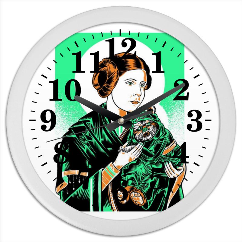 Часы круглые из пластика Printio Преподобная лея часы круглые из пластика printio преподобная лея