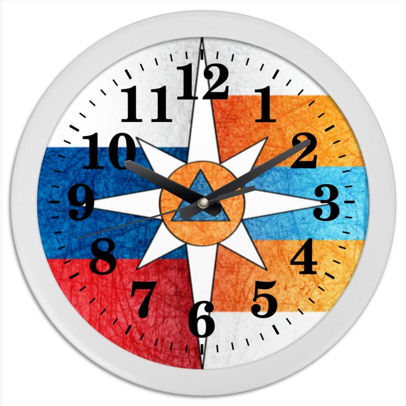 Часы круглые из пластика Printio Мчс россии часы настенные серые круглые в россии