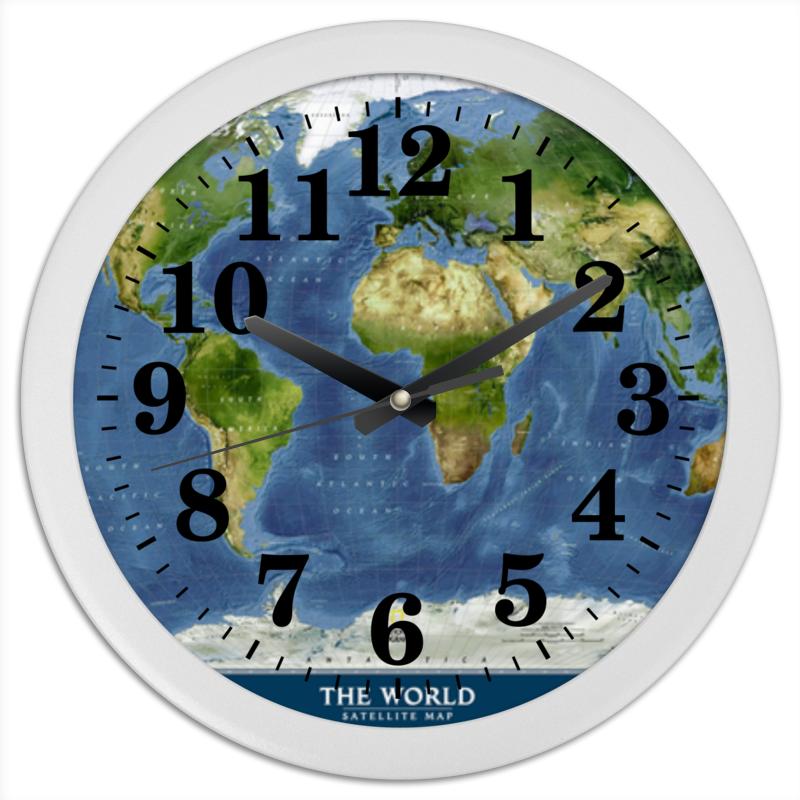 Часы круглые из пластика Printio Карта мира goldfish карта goldfish съемная бумага для кухни насосной полотенца пакет 75 насосных 3