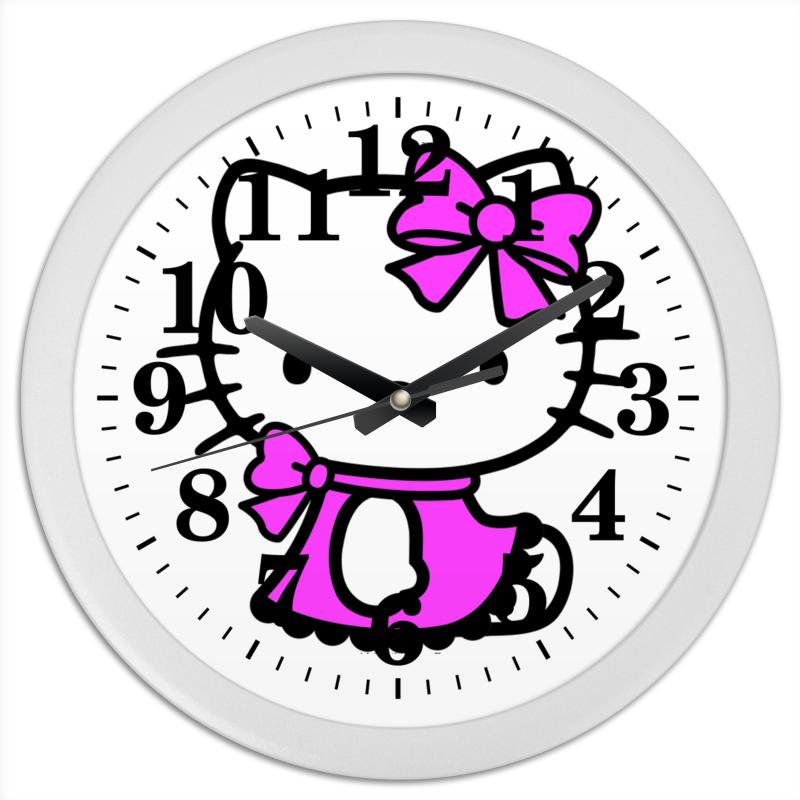Printio Hello kitty часы круглые из пластика printio kitty rock