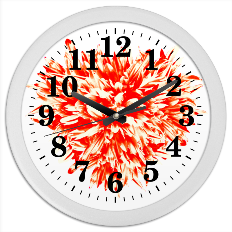 Часы круглые из пластика Printio Цветочный взрыв