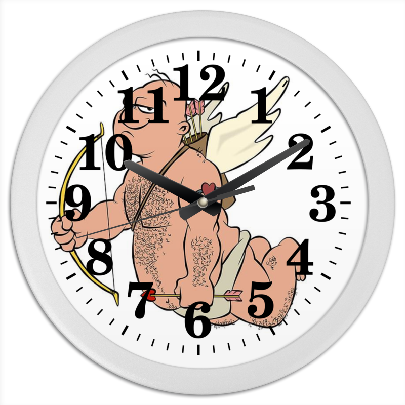 Часы круглые из пластика Printio Купидон wellber стельное белье для детской кровати 145x100cm