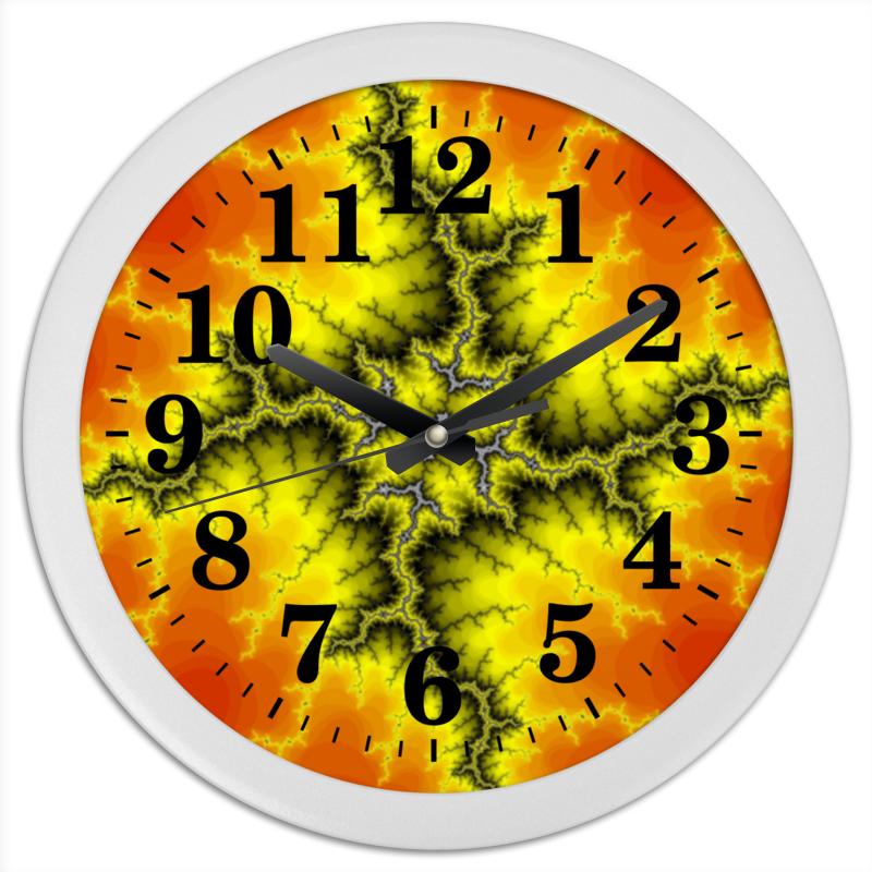 Часы круглые из пластика Printio Молния часы молния в краснодаре