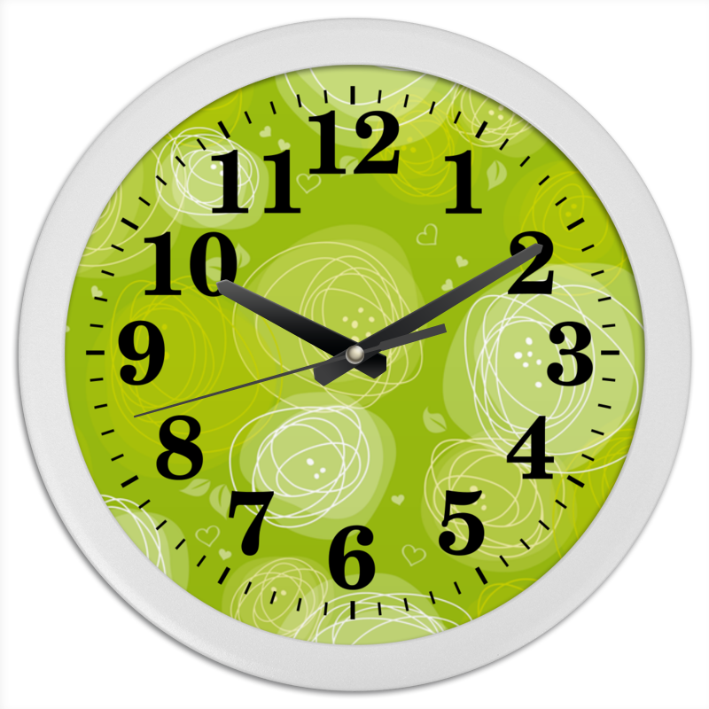 Printio Летняя абстракция часы круглые из пластика printio абстракция
