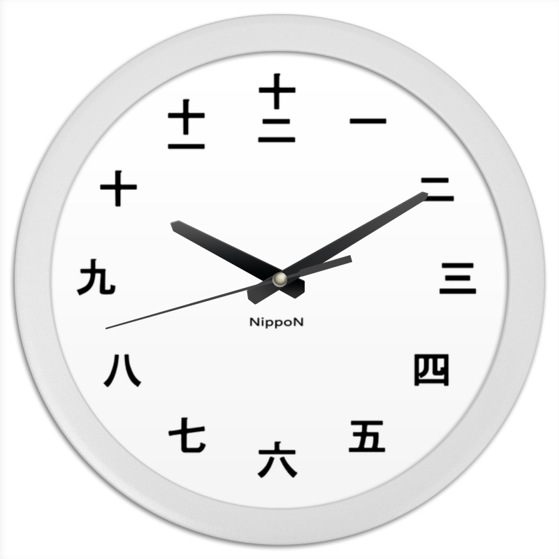 Часы круглые из пластика Printio Nippon цена