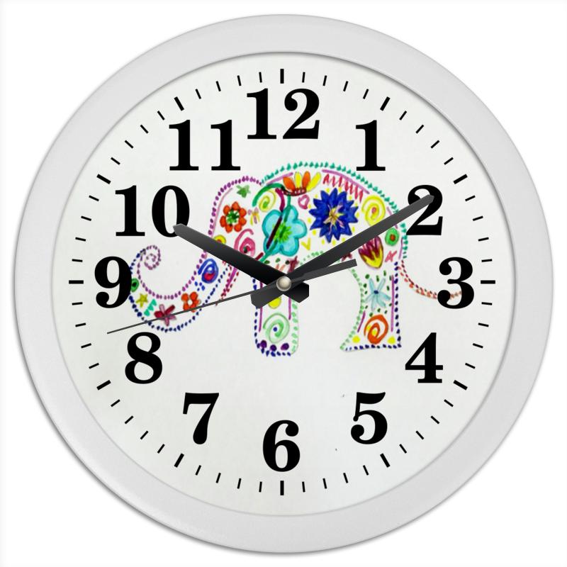 Часы круглые из пластика Printio Слоник часы круглые из пластика printio fish bus рытобус рыба автобус