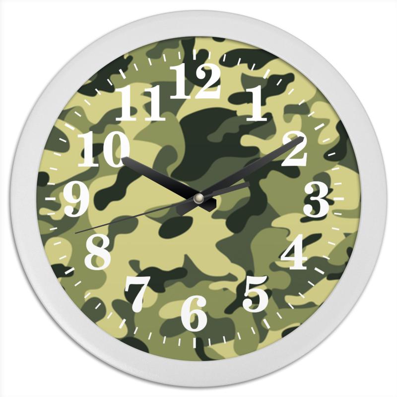 Часы круглые из пластика Printio Камуфляж часы круглые из пластика printio абстракция