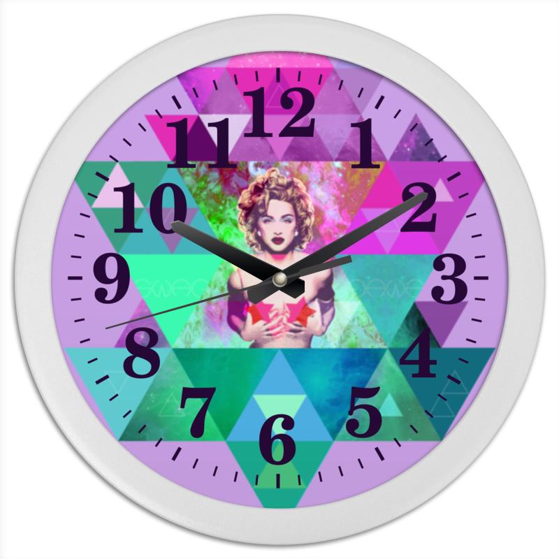 Часы круглые из пластика Printio hipsta swag collection: madonna конфеты круглые с ромом купить в иркутске