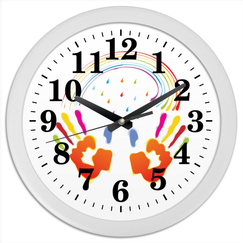 Часы круглые из пластика Printio Миру мир! лонгслив printio миру мир