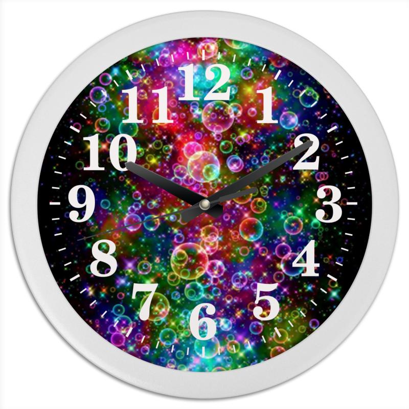 Часы круглые из пластика Printio Психоделика часы круглые из пластика printio анютины глазки