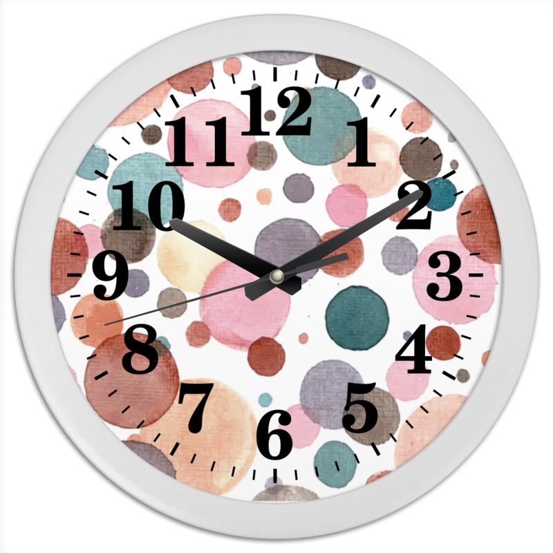 Часы круглые из пластика Printio Акварельные кабошоны из смолы имитации кошачьего глаза плоско круглые разноцветные 12x4 мм