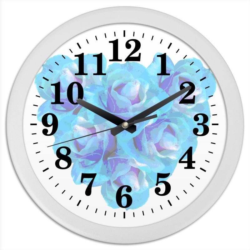 Часы круглые из пластика Printio Голубая пастель