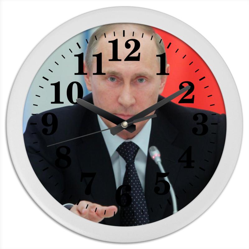 Часы круглые из пластика Printio Владимир путин владимир большаков охота за золотом путина