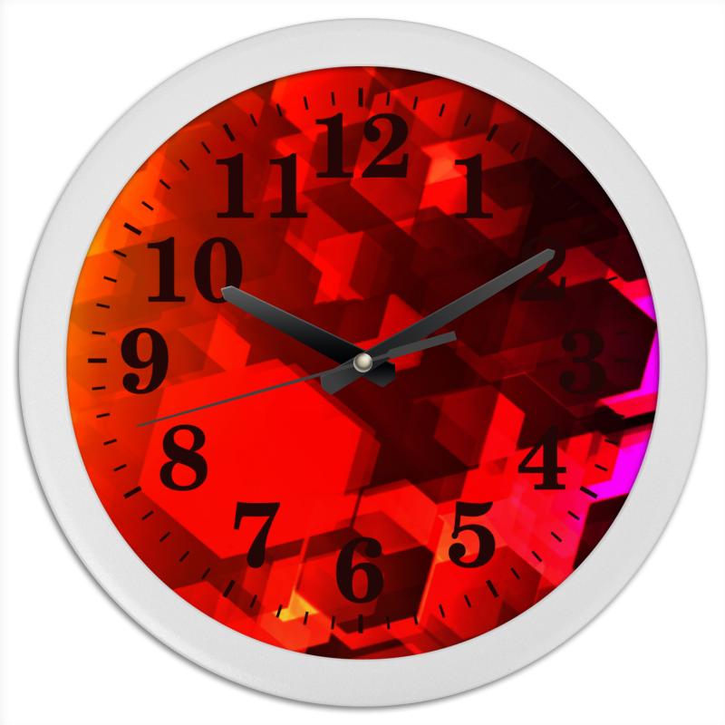 Часы круглые из пластика Printio Шестиугольники конфеты круглые с ромом купить в иркутске